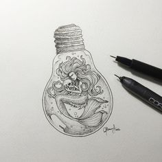 Pin by kayla hancock on drawing ideas art, stippling art, dr Light Bulb Drawing, Light Bulb Art, Easy Drawings, Pencil Drawings, Fantasy Magic, Stippling Art, Art Simple, Tattoo Sketches, Doodle Art