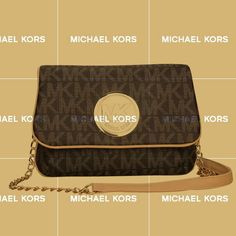 Our Michael Kors Fulton Signature Logo Medium Coffee Crossbody Bags Lets You Become A Eye-Catching Person!