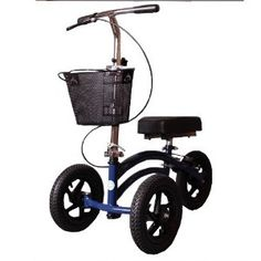 All Terrain Knee Walker Scooter Heavy Duty Bariatric Outdoor KneeRover Blue NEW Health