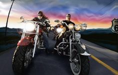 Harley-Davidson Cartoon Wallpaper