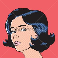 Pop Art Woman Comic Book Style With Dot stock vector - Clipart.me