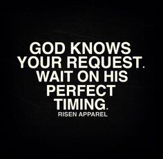 God is never late!