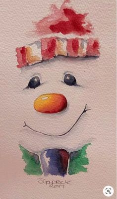 New painting watercolor diy fun ideas - Weihnachten - Decoration Watercolor Christmas Cards, Christmas Drawing, Christmas Paintings, Watercolor Cards, Christmas Art, Watercolour Painting, Diy Painting, Watercolors, Xmas