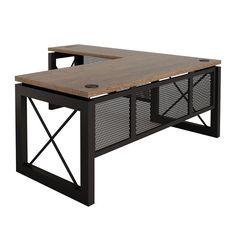 "Urban Reversible Compact L-Desk - 60""W x 80""D"