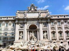 Rome, Italy.  Trevi Fountain.