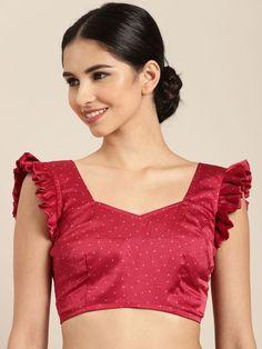 New Saree Blouse Designs, Saree Jacket Designs, Blouse Designs Catalogue, Simple Blouse Designs, Stylish Blouse Design, Bridal Blouse Designs, Blouse Patterns, Blouse Desings, Sewing Blouses