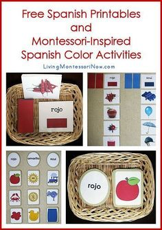 Montessori inspired Spanish color activities from Living Montessori Now