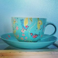 A matching tea cup for the freshly painted wall