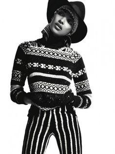 Jourdan Dunn For Vogue Russia October 2012
