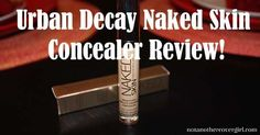 Urban Decay came out with a new #Naked concealer and I just had to get it to review. Checkout what I thought http://www.notanothercovergirl.com/urban-decay-naked-skin-concealer-review/ #NotAnotherCoverGirl #makeup #beauty