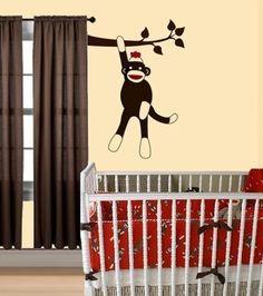 If I ever have a baby I would do a sock monkey room, so cute! Monkey Baby Rooms, Sock Monkey Nursery, Monkey Room, Sock Monkey Baby, Baby Boy Rooms, Baby Boy Nurseries, Having A Baby Boy, Heart For Kids, Nursery Inspiration