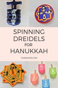 Dreidels are one of our favorite parts of Hanukkah. They come in many sizes and colors but most importantly, some spin better than others. We put our dreidels to the spin test. Hanukkah Crafts, Hanukkah Food, Hanukkah Decorations, Crafts To Make, Spinning, Party Ideas, Holidays, Colors, Fun