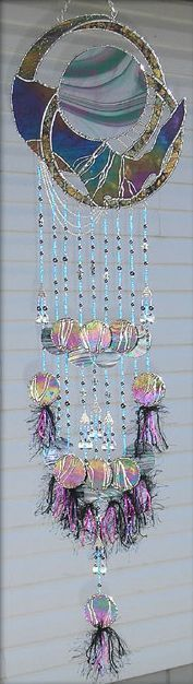 Art 'Subliminal Soul' - by Jacqueline K M Pfeffer from Stained Glass Wind Chimes