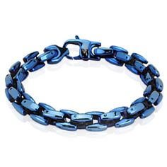 Lowest prices and latest styles of Stainless Steel Bracelets for Men and women available now at Buy Blue Steel. Bracelets With Meaning, Link Bracelets, Bracelets For Men, Beaded Bracelets, Titanium Jewelry, Steel Jewelry, Men's Jewelry, Blue Rings, Stainless Steel Bracelet