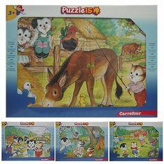 Puzzel kind spelende dieren 15 dlg