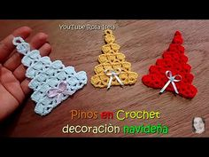 If you're looking for a less time-consuming craft ahead of the holidays, we suggest sitting down and making this Christmas Tree. Crochet Ornament Patterns, Crochet Snowflake Pattern, Christmas Crochet Patterns, Holiday Crochet, Crochet Snowflakes, Crochet Christmas Decorations, Christmas Tree Pattern, Crochet Christmas Ornaments, Crochet Tree