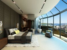 Luxury Master Bedroom with a View, Sydney Penthouse
