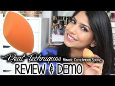 Real Techniques Miracle Complexion Sponge vs. Beauty Blender | First Impression & Demo - YouTube