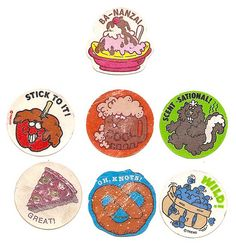 Old 1980's Scratch 'N Sniff Stickers