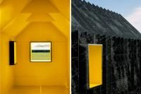 """This this quaint corrugated shed, called the """"Chameleon Cabin"""" is built entirely from paper. Mattias Lind, a partner in the Scandinavian firm, White Arkite Little Houses, Tiny Houses, Chameleon, Color Combos, Building A House, Minimalism, Construction, Architecture, Paper"""