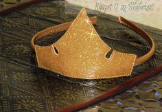 "Sleeping Beauty's Princess Aurora Inspired TIARA Crown ""INFANT/TODDLER"" Sized Gold Glitter Vinyl Smooth Costume Dress-Up Headband Headpiece Sleeping Beauty Fairies, Sleeping Beauty Princess, Aurora Costume, Costume Dress, Halloween Costumes For Teens, Toddler Costumes, Disney Diy, Cute Disney, Glitter Vinyl"