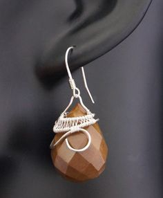 A delicate, unique, handmade, wire wrapped earrings with Jasper.  Earrings were designed and made by Me, using an extremely labor-intensive and precise wire-wrapping technique, with silver 925, 930 and 999.  Dimensions of earrings: length: 1.57 inches width: 0.66 inches  You receive these unique earrings in jewelry box, so theyre ready to be a gift.    Refunds and Exchanges:  If you are not satisfied with your purchase for any reason, please contact me before leaving a feedback.  You can…