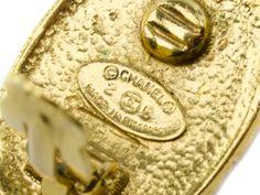 Chanel Gold Crown Earrings | Designer Vault