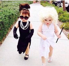 Mini divas! Little Audrey and Marilyn