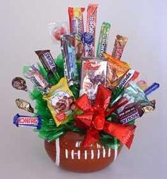 Football Candy Basket! Perfect for Super Bowl Parties!