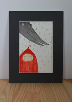 Excited to share the latest addition to my #etsy shop: Little Red Riding Hood - original watercolor painting, illustration, fairy tale illustration #art #painting #watercolor #fairytale