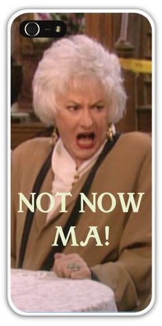 The Golden Girls Cell Phone Case Cover iPhone 4/4S 5/5S Samsung Galaxy S3 S4 Dorothy Not Now Ma Bea Arthur Sophia Betty White Estelle Getty $24.99+FREE SHIPPING