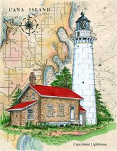 donna elias lighthouses on chart Cana Lighthouse Door County Nautical Quilt, Nautical Theme, Nautical Chart, Lighthouse Painting, Map Background, Beacon Of Light, Door County, Tile Coasters, Vintage Labels