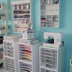 Papers, Sewing Machine, Paints- This is so great ,so useful, and in so little space! Definitely cant wait to do, keeps everything so organized!