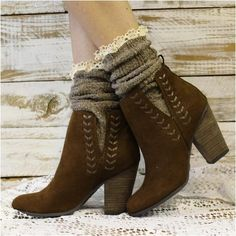 socks for booties - brown socks ankle boots - brown bootie socks