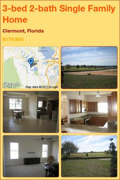 3-bed 2-bath Single Family Home in Clermont, Florida ►$179,900 #PropertyForSale #RealEstate #Florida http://florida-magic.com/properties/4069-single-family-home-for-sale-in-clermont-florida-with-3-bedroom-2-bathroom