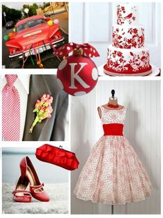 Red Retro Christmas Inspiration #pinup