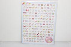 Mini Sticker Set Lovely SchleifenTerminplaner von Perlenblitz auf DaWanda.com