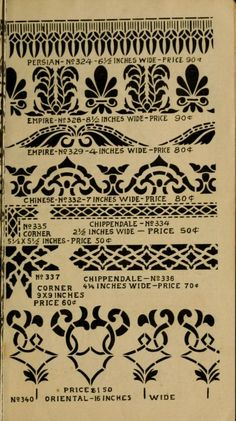 Stencil catalog : showing designs and list pric...