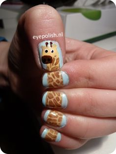 My famous Giraffe nailart, repinned almost 13.000 times on tumblr. www.eyepolish.nl
