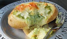 Patatas rellenas con brócoli