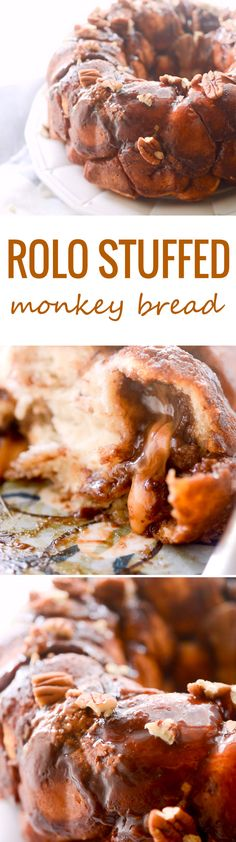 Easy Cinnabon Monkey Bread - Something Swanky Just Desserts, Delicious Desserts, Yummy Food, Bread Recipes, Cooking Recipes, Brownies, Breakfast Recipes, Dessert Recipes, Bread Baking