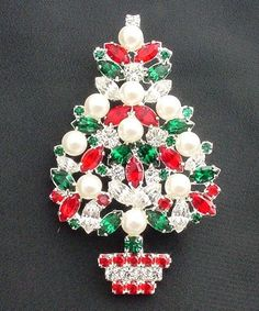 Cheap Sale Fashion Multicolor Crystal Double Bells Christmas Bows Sleigh Bells Brooches Christmas Gifts Christmas Brooches For Women Pure And Mild Flavor Fashion Jewelry