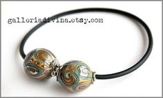 Blown glass Torque necklace Torc necklace by Galleriadivina