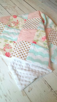 Vintage Floral Patchwork Blanket by fingersandtoes on Etsy