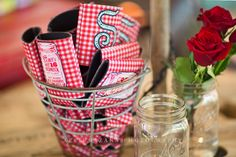 Redneck Redcarpet party favors | Sweet 16 - Duck Dynasty Hillybilly Chic | Photography by April Pizana