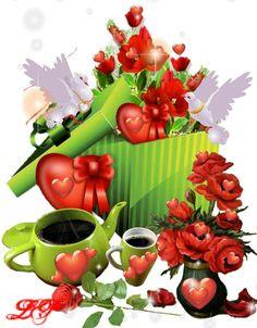 Tea Cafe, Joelle, Good Morning, Illustration Art, Profile, Buen Dia, Bonjour, Good Morning Wishes