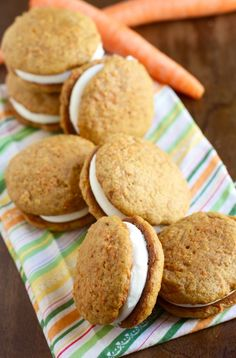 Carrot Cake Whoopie Pies via The Baker Chick