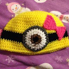 Crochet minion hat https://www.facebook.com/KatfishcokeHandmadeCrochet