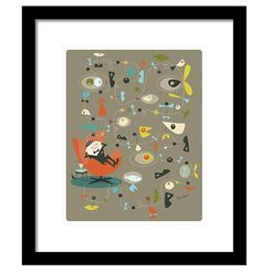 Googie Elevator Music Matted Print by EdwinWade on Etsy