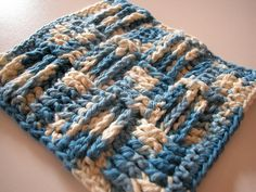 Basketweave Scrubby Cloth - free pattern